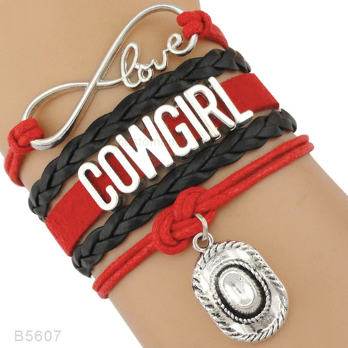 Cowgirl Love - Handmade Leather Bracelet
