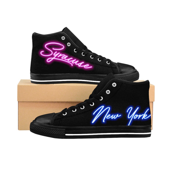 80's Neon Lights - Syracuse, New York Edition - Women's High-top Sneakers