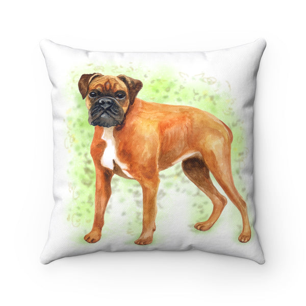 German Boxer - Watercolor Design - Throw Pillow- Cushion