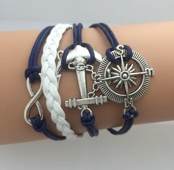Double Infinity Multilayer Anchor Bracelet -Handmade