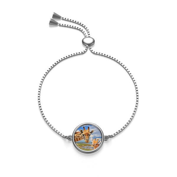Giraffe Family Holiday  - Box Chain Bracelet - Sterling Silver or 18k Gold