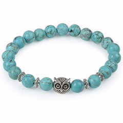 Owl Head Buddha Beads Bracelet