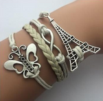 Double Infinity Multilayer Butterfly Paris Bracelet -Handmade