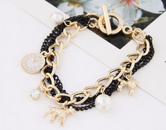 Clock Dog Chain Bracelet