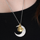 "Grandpa Moon Necklace "" I Love You To The Moon And Back """