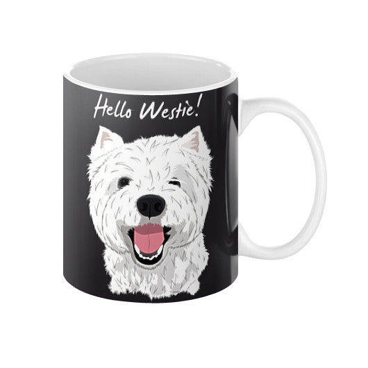 Hello Westie! (West Highland Terrier)  Coffee Mug  Blue Moon Clouds