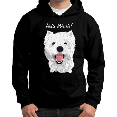 Hello Westie! (West Highland Terrier) Gildan Hoodie