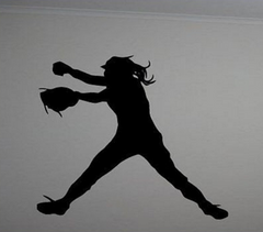Fast Pitch Softball Wall Sticker