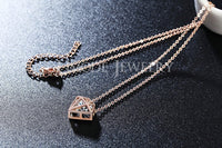 Hollow Star-shaped With a Brilliant Cut Cubic Zirconia Stone Necklace