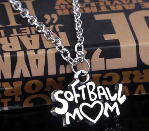 SoftBall Mom Pendant Necklace