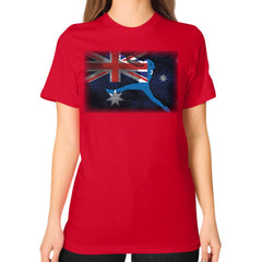 Softball Shirt - Vintage Australia Red Blue Moon Clouds