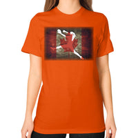 Softball Shirt - Vintage Canada Orange Blue Moon Clouds