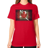 Softball Shirt - Vintage Canada Red Blue Moon Clouds