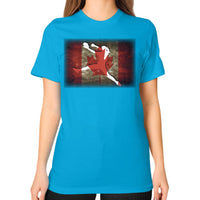 Softball Shirt - Vintage Canada Teal Blue Moon Clouds