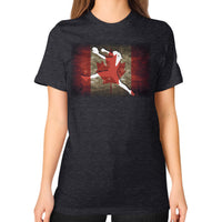 Softball Shirt - Vintage Canada Tri-Blend Black Blue Moon Clouds