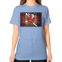 Softball Shirt - Vintage Canada Tri-Blend Blue Blue Moon Clouds