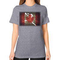Softball Shirt - Vintage Canada Tri-Blend Grey Blue Moon Clouds