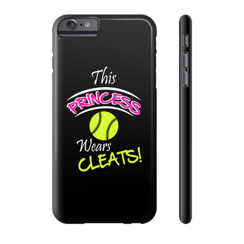 Softball- This Princess Wears Cleats!  Phone Case