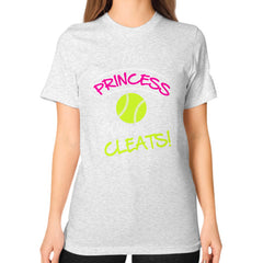 Softball- This Princess Wears Cleats!  Shirt Ash grey Blue Moon Clouds