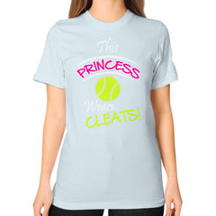 Softball- This Princess Wears Cleats!  Shirt Light blue Blue Moon Clouds