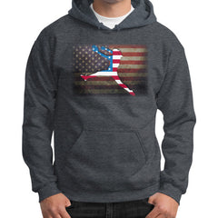 Softball - Vintage America - Gildan Hoodie Dark heather Blue Moon Clouds