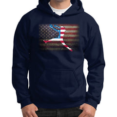 Softball - Vintage America - Gildan Hoodie Navy Blue Moon Clouds