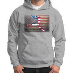 Softball - Vintage America - Gildan Hoodie Sport grey Blue Moon Clouds