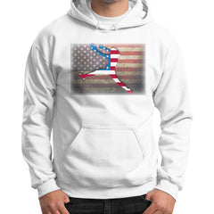 Softball - Vintage America - Gildan Hoodie White Blue Moon Clouds