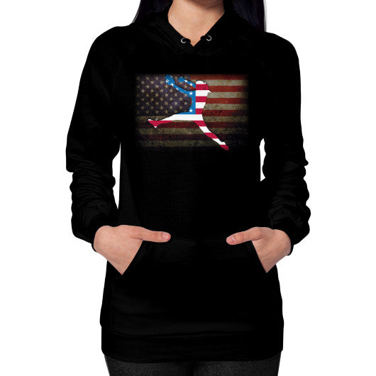Softball - Vintage America - Hoodie Black Blue Moon Clouds