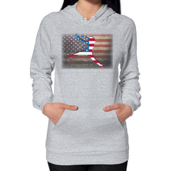 Softball - Vintage America - Hoodie Heather grey Blue Moon Clouds