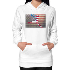 Softball - Vintage America - Hoodie White Blue Moon Clouds