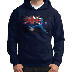 Softball - Vintage Australia - Gildan Hoodie Navy Blue Moon Clouds