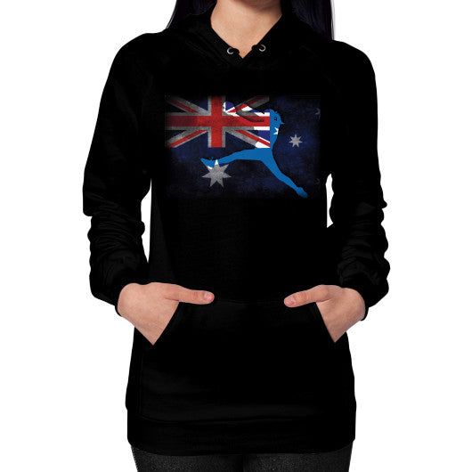Softball - Vintage Australia - Hoodie Black Blue Moon Clouds