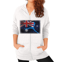 Softball - Vintage Australia - Zip Hoodie Tri-Blend Oatmeal Blue Moon Clouds