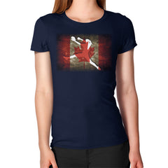 Softball - Vintage Canada - Women's T-Shirt Navy Blue Moon Clouds