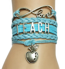 Infinity Love Teacher Bracelet - Handmade