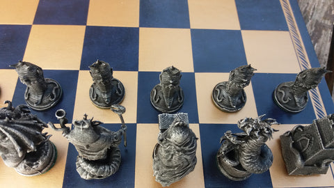 Hand Painted Cthulhu Chess Pieces