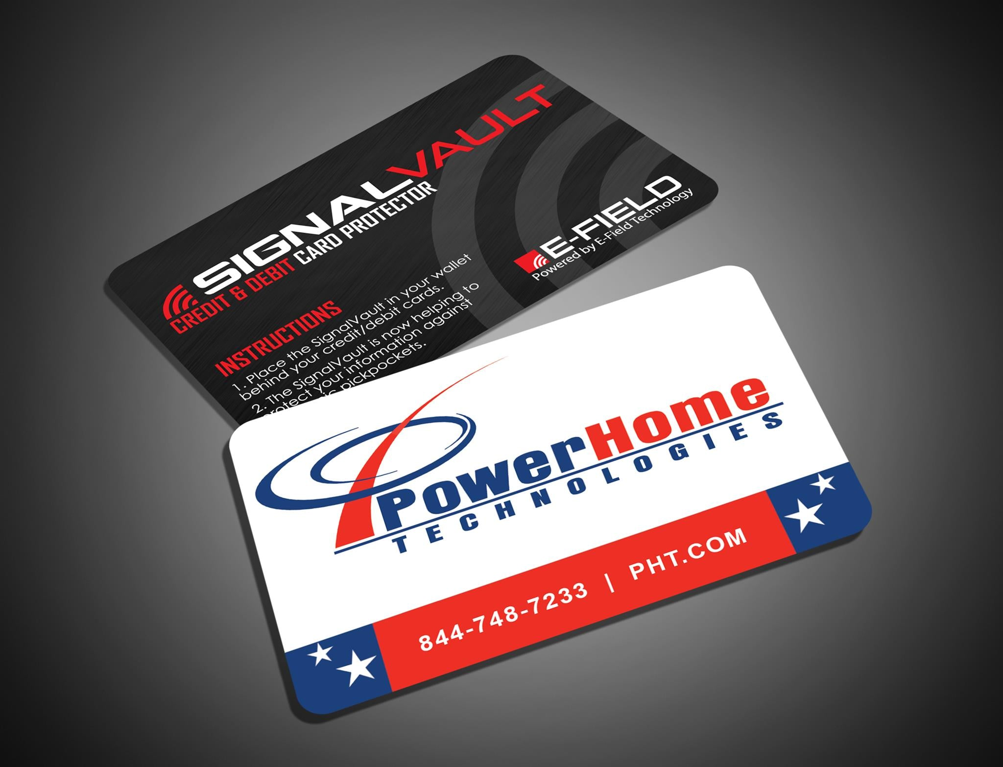 promote your pany with the signalvault customized business card
