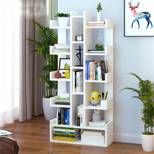 Kawachi DIY Multifunctional Floor Standing Book Shelf Home Decor Display Storage Organiser Rack