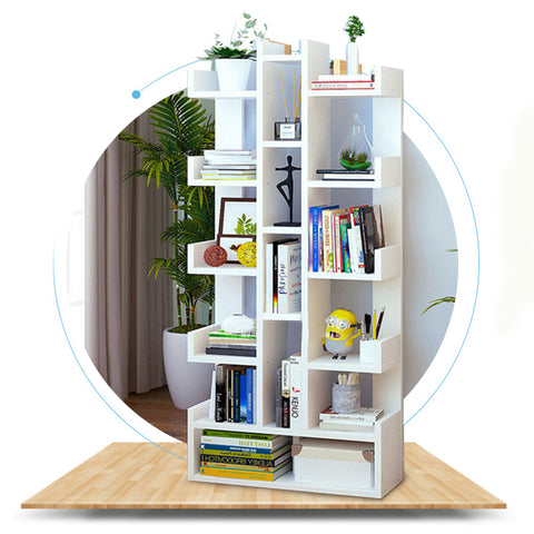 DIY Multifunctional Floor Standing Book Shelf Home Decor Display Storage Organiser Rack