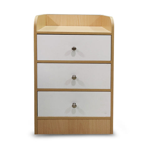 Kawachi Modern Home Bedroom Bedside Table Storage Cabinet with 3 Drawers WD