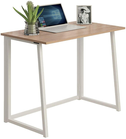 Kawachi Small Folding Writing Study, Laptop, Computer Desk Foldable Home and Office Table Workstation
