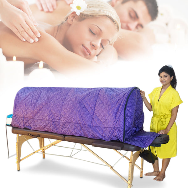 Kawachi Folding Massage Table Cum Folding Steam Bath Chamber for Panchakarma Clinics and Home Care Treatment