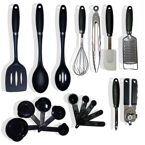 Kawachi Smart Non-Stick Modular Farberware Classic 19-Piece Kitchen Tool and Gadget - K302