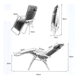 Folding Zero Gravity Lounge Chair Reclining Chair with Adjustable Headrest - K356