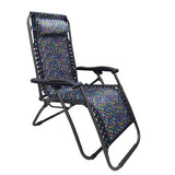 Kawachi Folding Zero Gravity Relax Reclining Chair With Head Rest for Indoor and Outdoor K356-Black