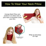 Kawachi Travel Neck Pillows - Ultra light Airplane Pillow Foldable Neck Support Super Soft Neck Chin Scarf Pillow – K488
