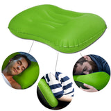 Kawachi inflatable comfortable travel neck pillow for picnic,flight journey,camping K498-Green