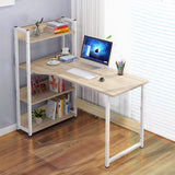 Kawachi Computer Desk Writing Study Table with 4 Tier Bookshelves for Home, Office, Gaming Desk, Multipurpose Compact PC Workstation K548