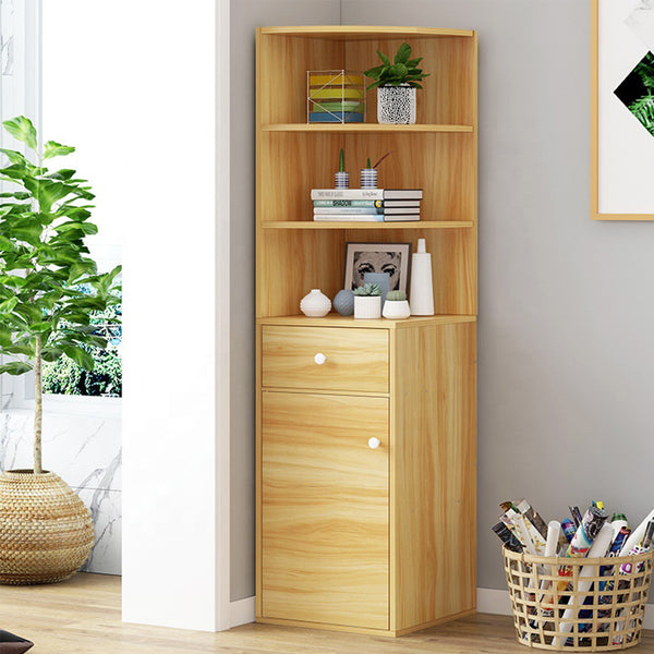 Corner Book Shelf with Display and Storage Cabinet Home Decor Organiser Rack K559